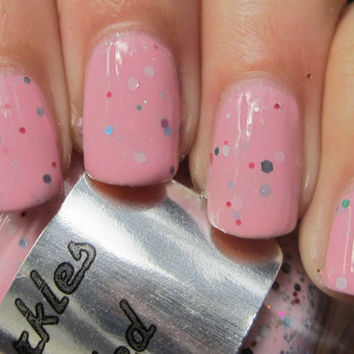 Pink Speckled Nail Polish