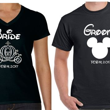 Bride and Groom Matching Couples T Shirt | Our T Shirt Shack