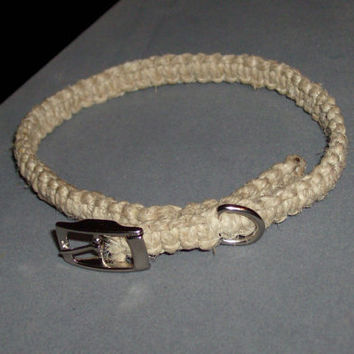 Adjustable Hemp Collar for Cats & Small Dogs by OriginalAccents