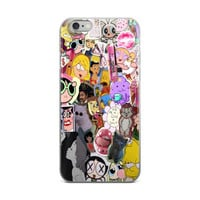 Bart & Lisa Simpson Hillary Duff Powerpuff Girls Chick Stuff Collage Teen Cute Girly Girl Code Paparazzi Pink iPhone 4 4s 5 5s 5C 6 6s 6 Plus 6s Plus 7 & 7 Plus Case