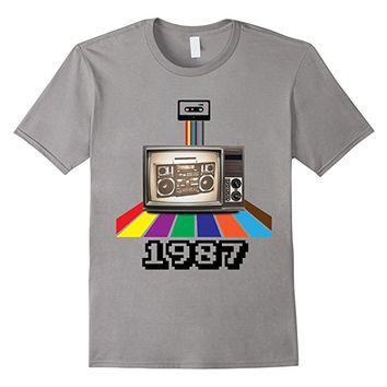 T-Shirt 80's Men Women Retro Style 1987 Birthday Graduation