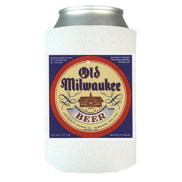 Old Milwaukee Beer Can Wrap, Insulated Can Wrap, Beer Gifts, Gift Idea For Beer Lovers, Vintage Beer Label, Beer Art   Dad Gifts   Man Gifts