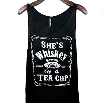 She's Whiskey In A Teacup Tank Top