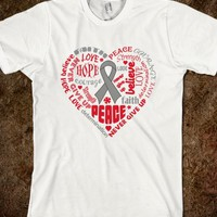 Diabetes Awareness Heart Words
