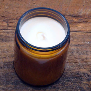 Sugah 9 oz Amber Glass Soy Candle