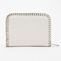 Chained Faux Leather Wallet