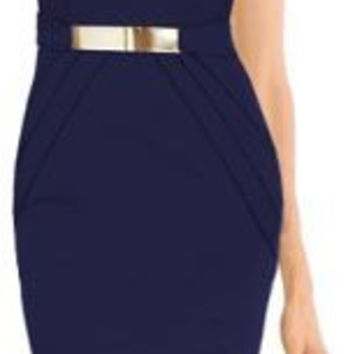 Stylish Navy Blue  Bodycon Dress