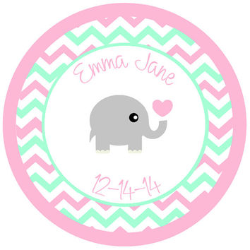 Personalized Baby Shower or Birthday Party Favor Stickers (Set of 20)