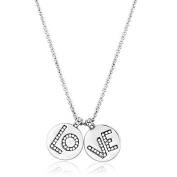 Russian Lab Diamond LOVE Stud Earrings & Necklace