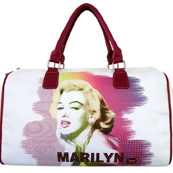 Colorful Marilyn Monroe Overnight Bag Duffle