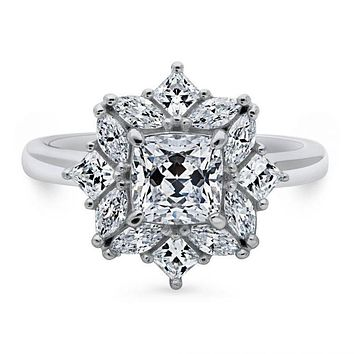 A Perfect Art Deco 1.25CT Cushion Cut Swarovski Zirconia Ring