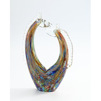 Abstract Giraffe Glass Sculpture