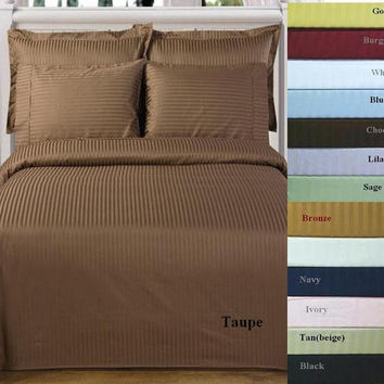 Queen 1000 Thread count Stripe 100% Egyptian cotton Sheet Sets