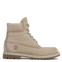 Timberland 6-Inch Premium Waterproof Boots in Off White Nubuck