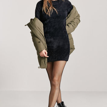Faux Fur Mini Dress