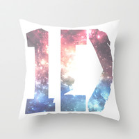 1D: Galaxy White Throw Pillow by Valerie Hoffmann || One Direction