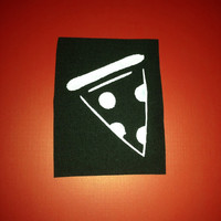 Large Pizza Handmade Sew-On Patch