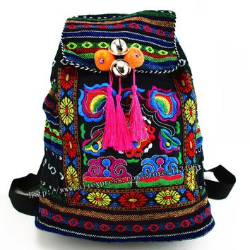 Tribal Vintage Hmong Thai Indian Ethnic Embroidery Bohemian Boho rucksack Boho hippie ethnic bag, backpack bag