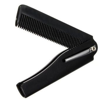 Black Hairdressing Beauty Folding Beard And Beard Comb Beauty Tools For Men