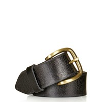 Crackle Leather Jeans Belt - Topshop