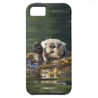Waving otter iPhone 5 cover from Zazzle.com