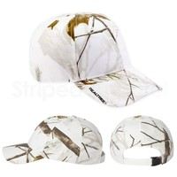 Realtree Snow Camo Hat SN200 White Camouflage Bow Hunting Cap NEW