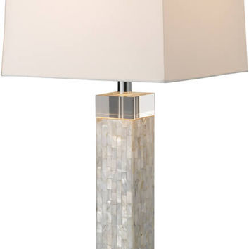 """0-033235>32""""h Luzerne 1-Light Table Lamp Mother Of Pearl"""