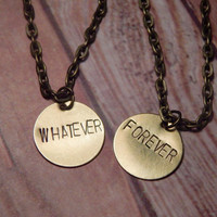 WHATEVER FOREVER  Friendship Necklace Set - Modern Baseball Necklace