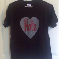Official vintage 1994 Hole band t shirt heart glitter graphic rare Courtney Love 90s grunge