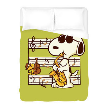 Music is Happiness Duvet Cover