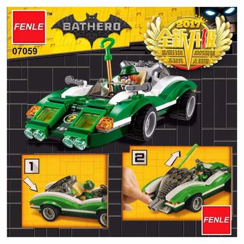 Batman Dark Knight gift Christmas 07059 LEPIN Batman Series The Riddler Riddle Racer Model Building Blocks Enlighten Figure Toys For Children Compatible Legoe AT_71_6