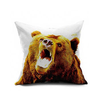 Cotton Flax Pillow Cushion Cover Animal   DW140