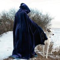 Medieval Exclisive Pure Natural Velvet Cloak