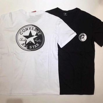 hcxx 1384 Converse All Star Tai chi Yin Yang printed cotton short sleeve T-Shirt