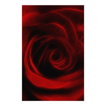 Red Rose depth of love Customized Stationery