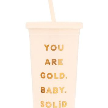 You Are Gold Sip Sip Tumbler by Bando - White + Gold