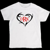 Valentines Day Deer Antler Heart monogram Onesuit or Kid's T-Shirt - Two Color