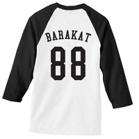 All Time Low's Jack Barakat #88 Batter Up Black and White Baseball Tee
