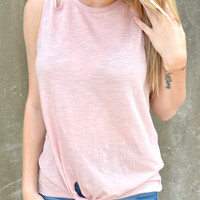 Lucky Break Tank Top - Light Pink