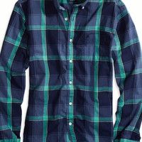 AEO Men's Factory Plaid Button Down Shirt