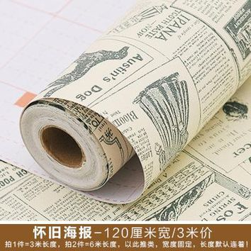 Wood grain from the waterproof wall paper adhesive wall stick bedroom wallpaper wardrobe furniture renovation stickers-488z
