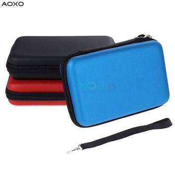 AOXO EVA Skin Hard Case Bag Pouch Protective Carry Cover for Nintendo NEW 3DS XL LL Anti-shock Carrying Bag Shell With Strap