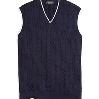 Supima® Cable Vest - Brooks Brothers