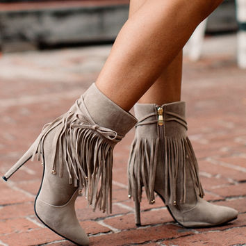 Peyton Faux Suede Ankle Boots