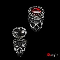 """Gothic, locket ring """"POISON RING - RED"""" - The Dark Store™"""