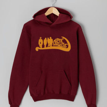 Artic Monkey New Logo maroon hoodie for men and women