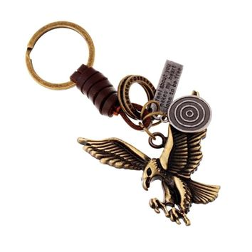 Charm Antique Bronze Plated Metal Punk Vintage Flying Eagle Keychain Alloy Keyfobs Car Key Ring Holder Accessories Gift