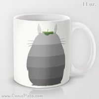 Ombre Totoro Silhouette My Neighbor 11 / 15 oz Mug Dishwasher Microwave Safe Cup Tea Coffee Drink Anime Manga Hayao Miyazaki Studio Ghibli