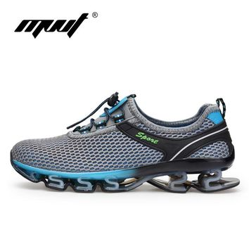Super Cool breathable running shoes men sneakers bounce Cushioning outdoor sport shoes
