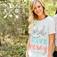 Southern Grace Limited Edition Lord Have Mercy Short Sleeve T-Shirt on Light Blue XL